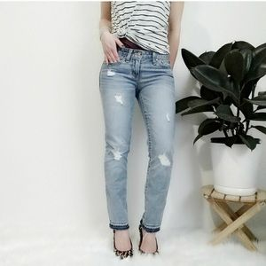 Gap 1969 Real Straight Distressed Jeans Sz 27